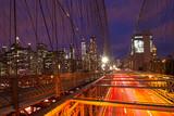 Lights of Manhattan from Brooklyn Bridge, NYC