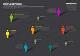People network 3d chart - 200791292