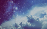 Space Clouds Art Background Vintage Colors Wallpaper