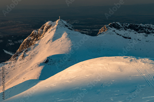 Giewont, Tatra mountains in the winter