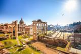 Roman ruins in Rome, Italy - 200805668