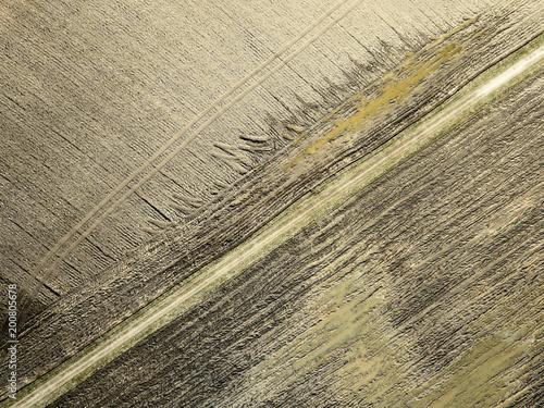 obraz drone. widok z lotu ptaka streszczenie pola rolnictwo tekstury