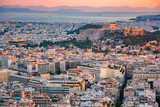 Panoramic aerial view of Athens, Greece at summer sunset - 200805804