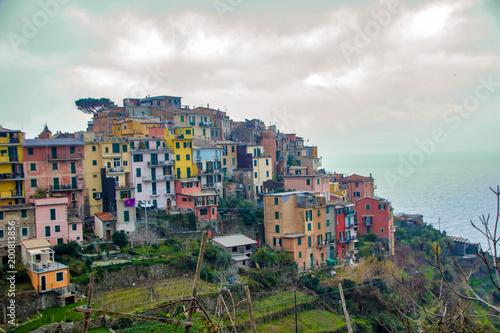 In de dag Liguria Landscape of cinque terre
