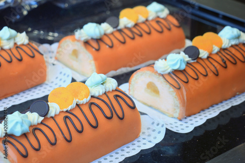 Orange marzipan confectionery