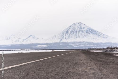 Foto Murales Volcanos at the Kamchatka Peninsula