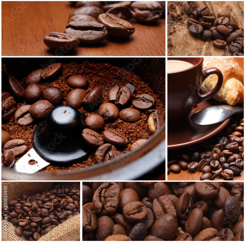 Foto op Aluminium Koffiebonen Freshness of fragrant coffee