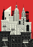 Vector illustration of a sketch of new york - 200838894
