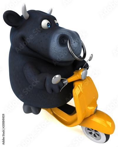 Zabawa czarny byk - 3D ilustracja