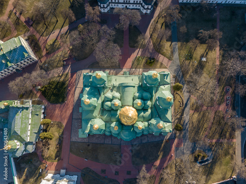 Foto op Plexiglas Kiev St. Sophia's Cathedral and buildings around it in Kyiv, Ukraine