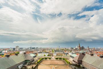 Copenhagen aerial view skyline