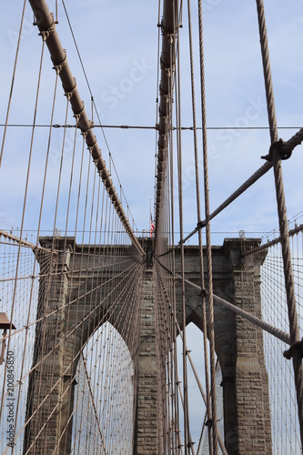 Canvas Brooklyn Bridge New York City architecture