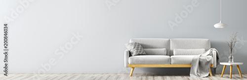 Modern interior with sofa panorama 3d rendering © Vadim Andrushchenko