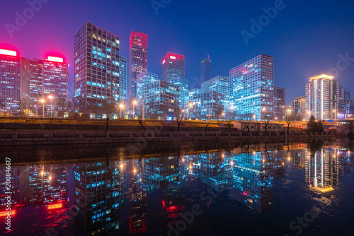 Foto op Plexiglas Peking Beijing CBD at night