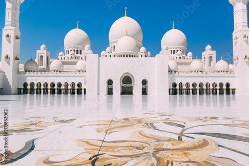 Fotobehang Abu Dhabi Abu Dhabi grand Mosque