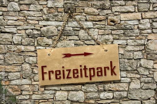 Keuken foto achterwand Amusementspark Schild 235 - Freizeitpark