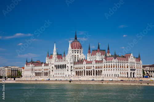 Fotobehang Boedapest building of the Parliament in Budapest, Hungary