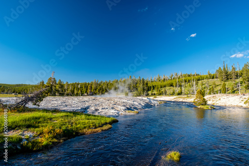 Foto Murales Firehole River, Yellowstone National Park, Wyoming