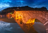 Devils Bridge at Night in Lucca, Italy