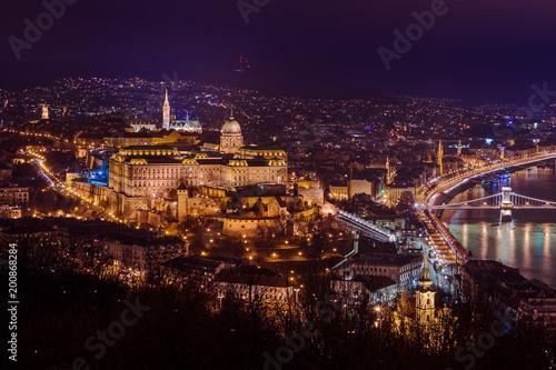 Fotobehang Boedapest Royal palace in Budapest Hungary