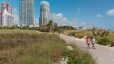 Beach of South Pointe in Miami Beach, Florda aerial view