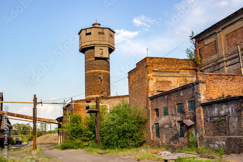 Fotobehang Oude verlaten gebouwen The territory of the old abandoned factory in Tula, industrial tourism