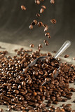 coffee bean aroma drinking in morning for background decoration