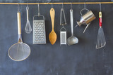 Vintage kitchen utensils, cooking, food and drink, culinary concept.