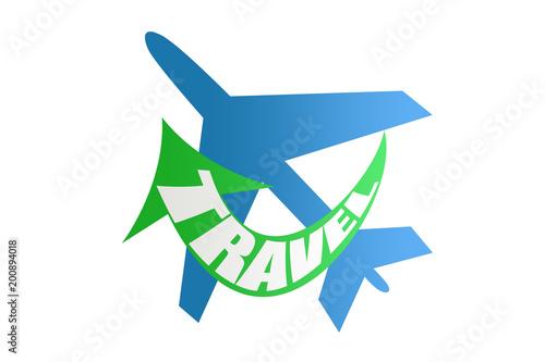 Sticker Icono de viajar por el mundo