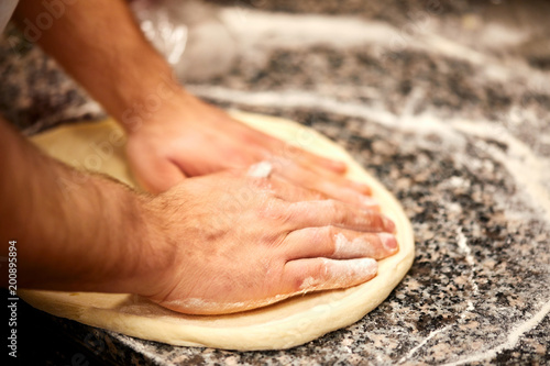 Kneading Dough For Pizza