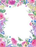 Vertical watercolor roses greeting card - 200896272