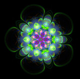 abstract fractal futuristic colourful flower pattern
