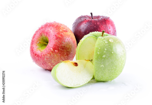 Three apples: stark delicious, granny smith and royal gala - 200912276