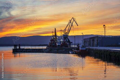 Ramal dock in Vilagarcia de Arousa port