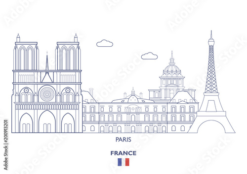 Paris City Skyline, France - 200913201