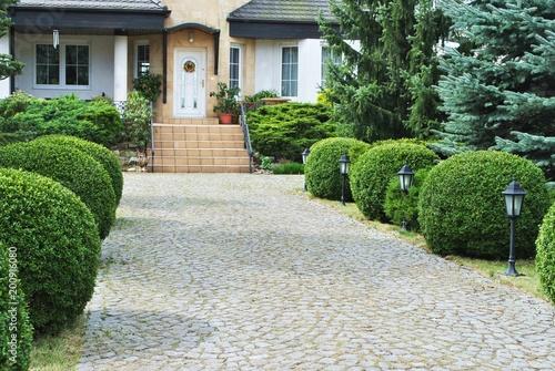 Foto Murales Ogród przed domem