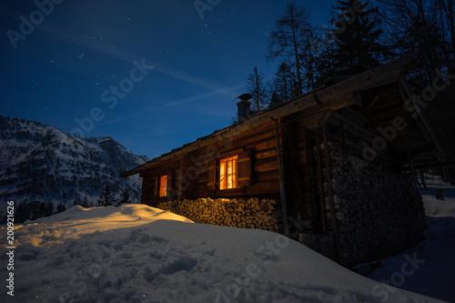 Foto Murales Hütte bei Vollmond2