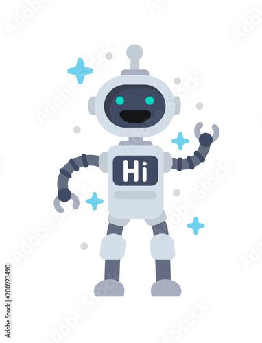 Funny vector robot