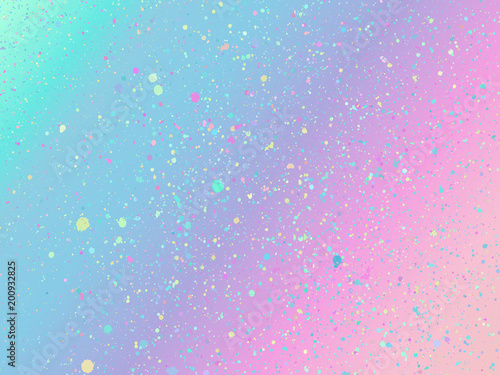 Unicorn background with rainbow mesh. Fantasy gradient backdrop