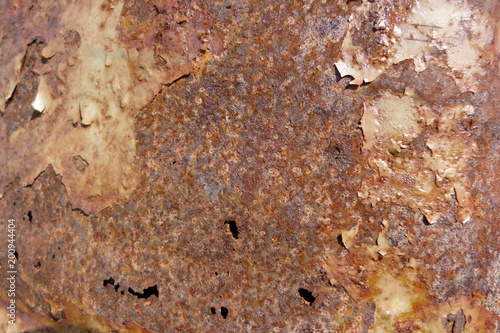 In de dag Stenen rusted metal old shabby paint damaged surface closeup background junk