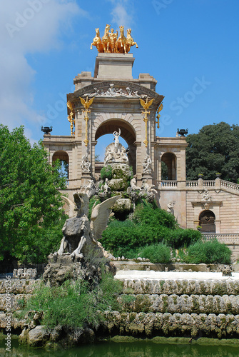 Parc de la Ciutadella, Barcelona, Spain: The park's fountain Poster