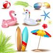 summer deco elements