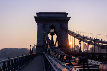 Chain Bridge at sunrise.
