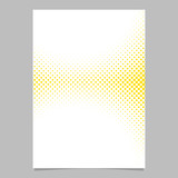 Abstract geometric halftone circle pattern background brochure template design - vector flyer graphic