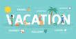 Vacation concept illustration.