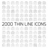 Exclusive 2000 thin line icons set - 200970867