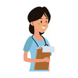 Female doctor cartoon vector illustration graphic design - 200975875
