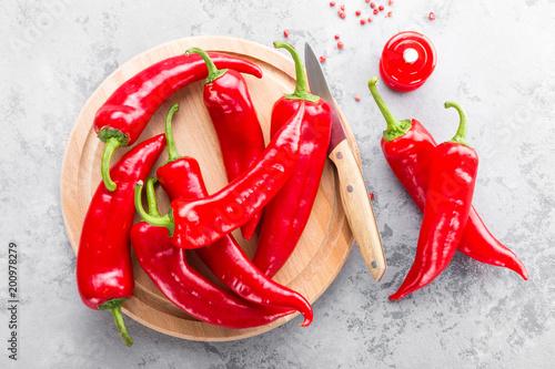 Sweet pepper on wooden board - 200978279