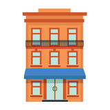 vector flat icon of hotel building - 200984606