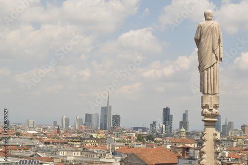Fotobehang Milan catedral de milão itália